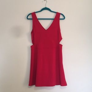 H&M red cocktail dress either cutout sides